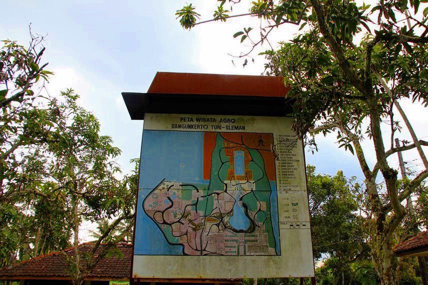 Peta petunjuk lokasi yang ada di desa wisata penghasil salak