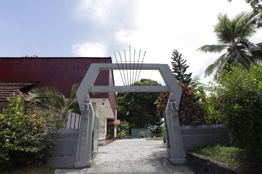 Pintu gerbang masuk Museum