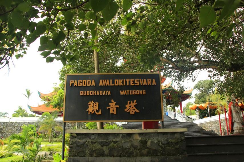Pintu masuk Pagoda Avalokitesvara Buddhagaya Watugong