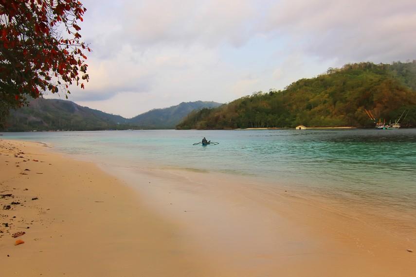 Posisinya yang terasing dari kota membuat pantai di Kiluan masih sangat asri dan terjaga