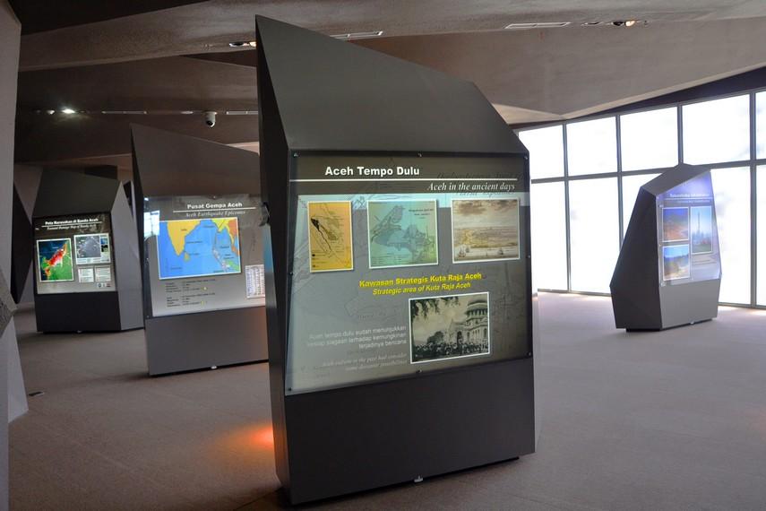 Ruang display berisi pengetahuan umum seputar Aceh dan Tsunami