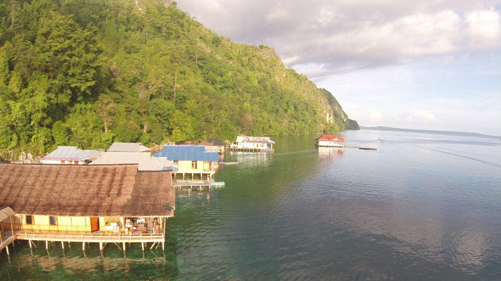 Salah satu Resort yang ada di Desa Sawai