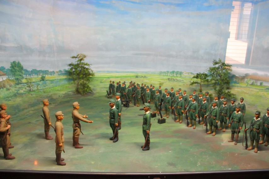 Salah satu diorama yang menggambarkan pendidikan militer yang dijalani para tentara PETA
