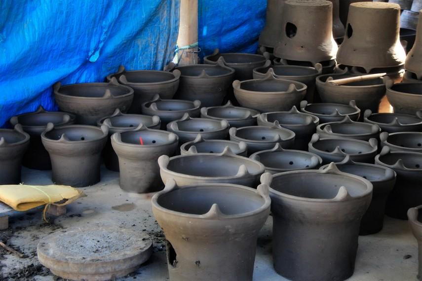 Salah satu gerabah hasil kerajinan Warga Desa Bangunjiwo