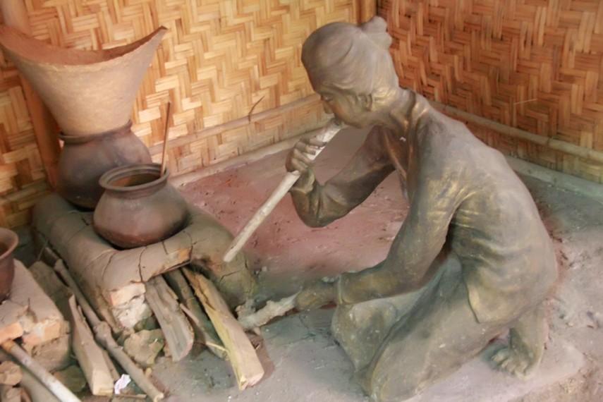 Salah satu potret kehidupan manusia Jawa Jaman Dulu