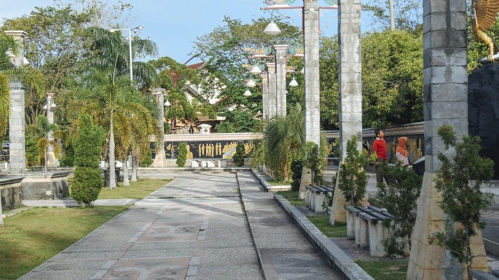 Salah satu sisi dari Taman Kota Palangkaraya