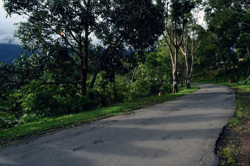 Salah satu sudut jalan menuju Tugu Mc Arthur
