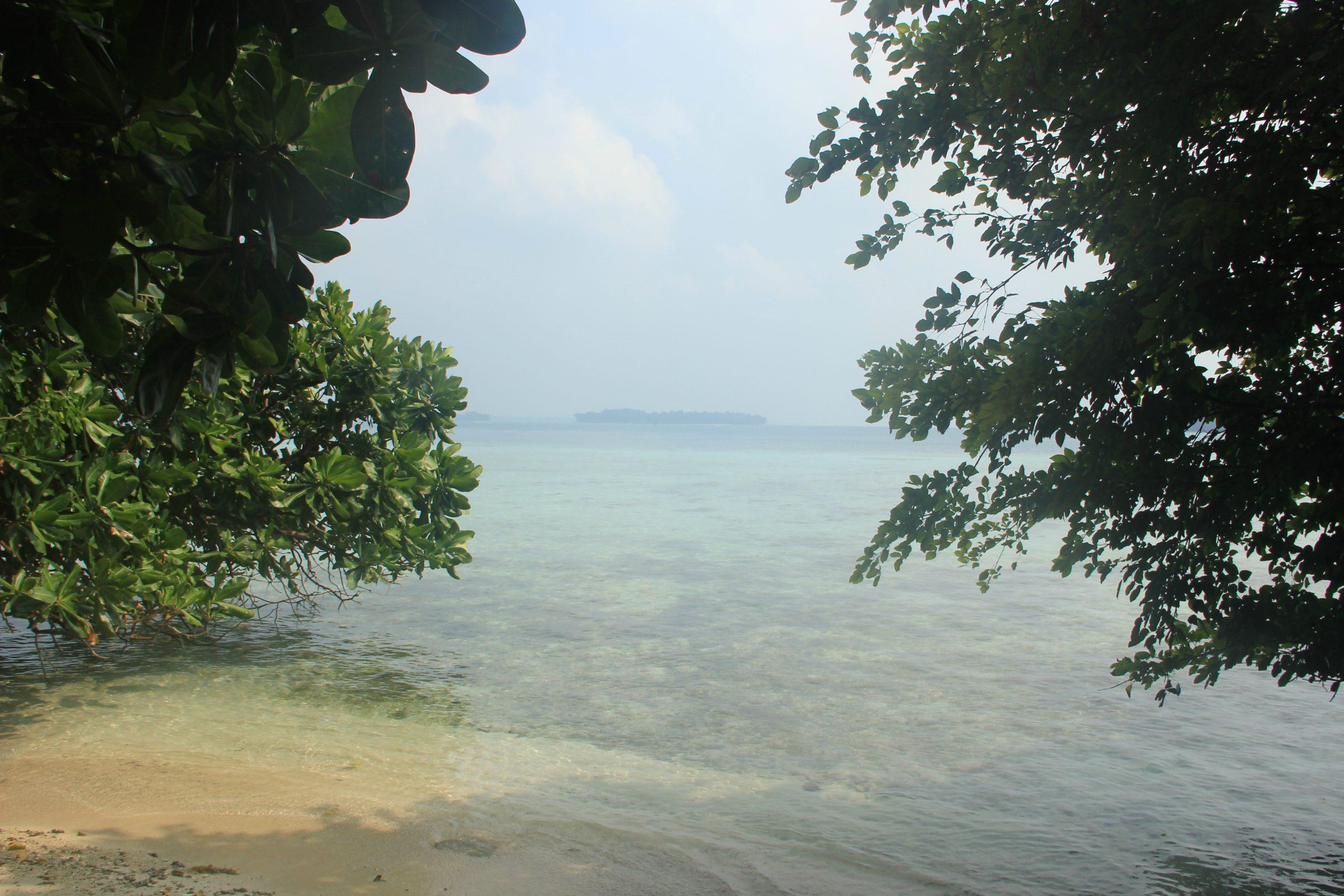 Salah satu sudut panorama yang tersaji di Pulau Putri