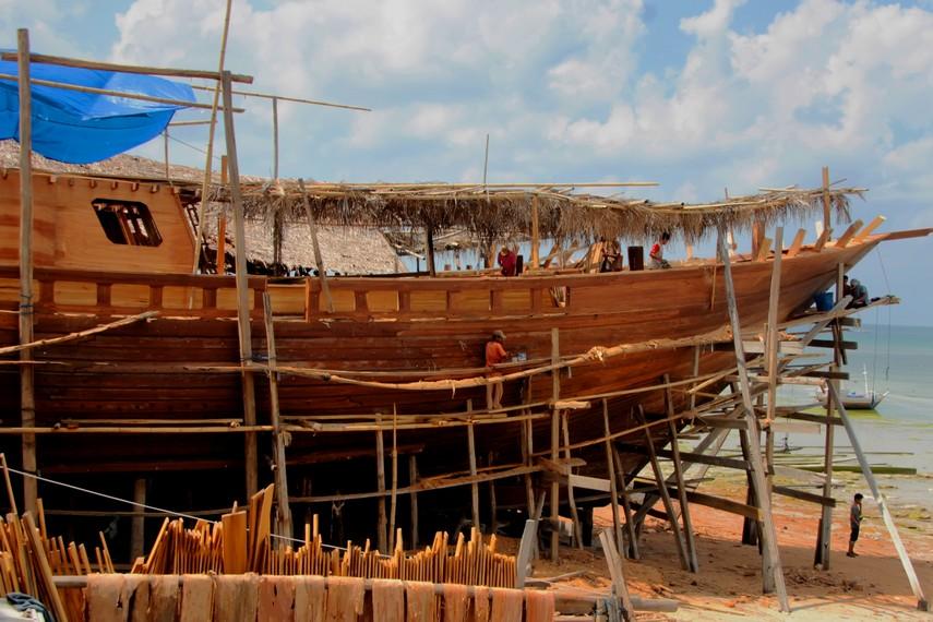Harga satu perahu Pinisi mencapai miliaran rupiah