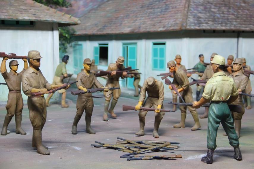 Sebuah diorama di Museum PETA yang menggambarkan suasana latihan militer tentara PETA