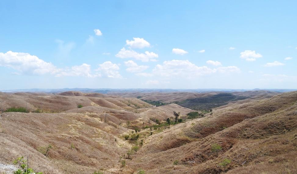 Sejauh mata memandang, hamparan padang savana menjadi atraksi alam yang cantik