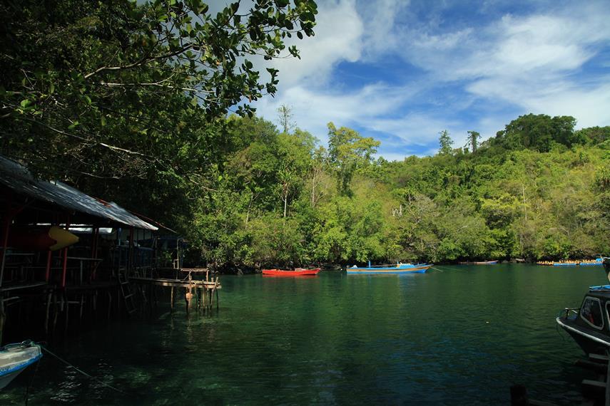 Sekilas, Saomadaha menyerupai laguna dengan air yang sangat jernih