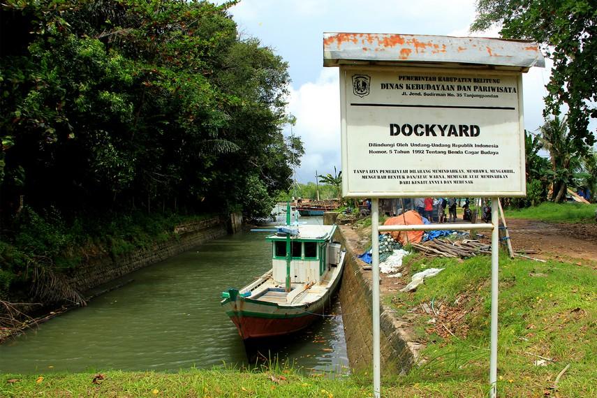 Situs Dockyard menjadi salah satu benda cagar budaya yang dilindungi Pemerintah Kabupaten Belitung