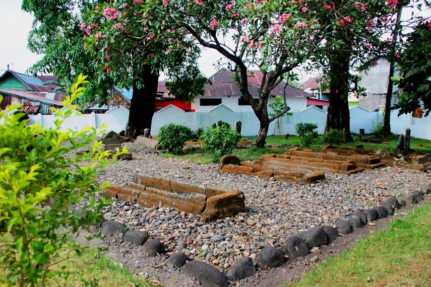 Situs Makam Raja-raja Tallo bersebelahan dengan perumahan warga