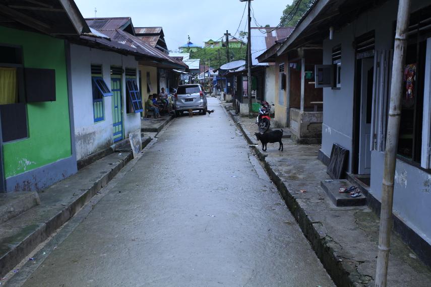 Suasana Jalan Desa di Sawai