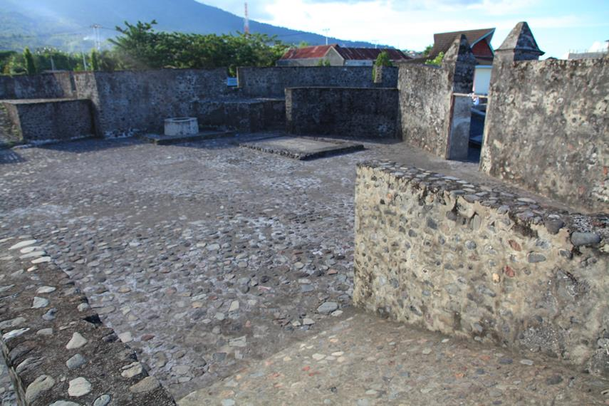 Tampak bagian dalam Benteng Kalamata