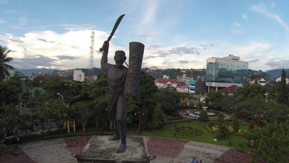 Tampak patung Pattimura dari atas