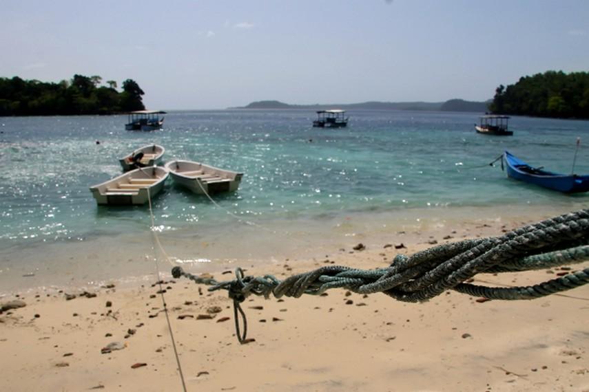 Terdapat perahu kecil dan perahu besar berdasar kaca yang siap mengantar anda berkeliling Pantai Iboih