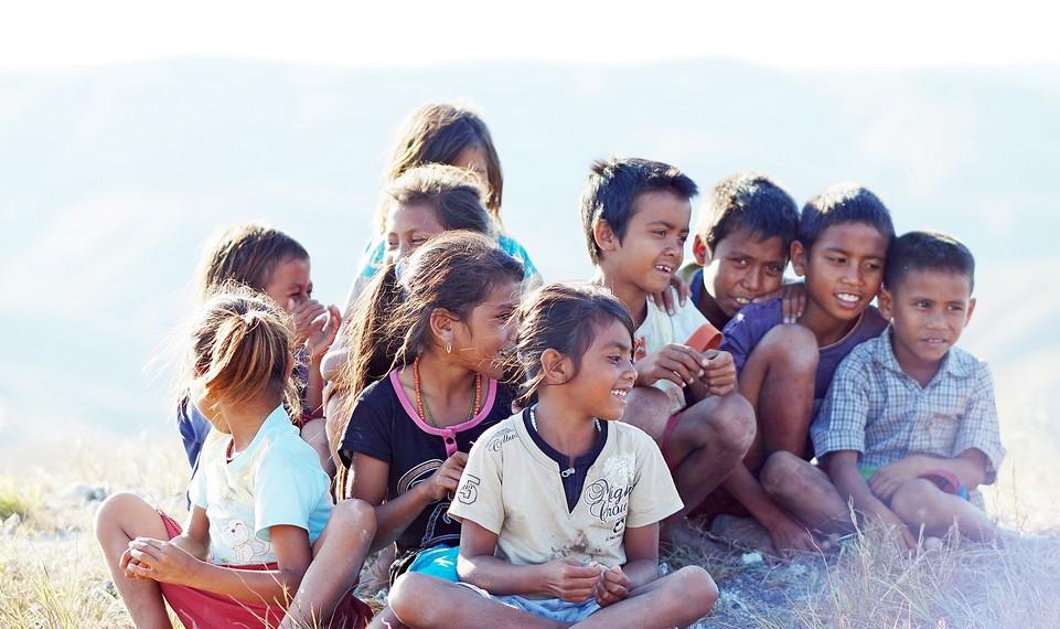 Wajah anak-anak Waingapu yang sangat polos dan tulus
