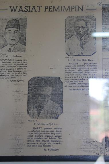 Wasiat dari para pendiri negara dapat disaksikan di Museum Perjuangan, Bogor