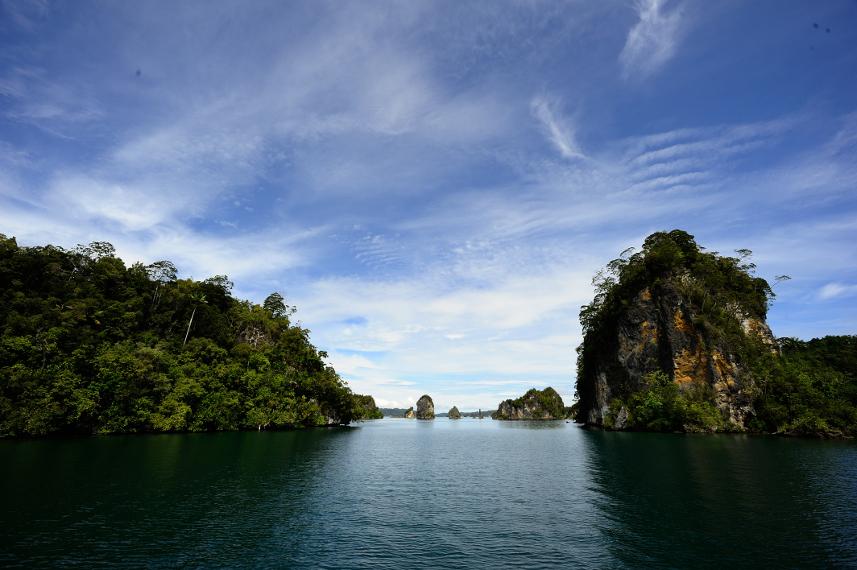 Batu Pensil sebagai salah satu tujuan wisata bahari di Raja Ampat