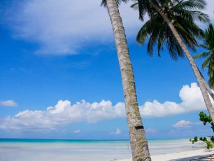 Menikmati Heningnya Suasana Pantai Pasir Putih Biduk-Biduk