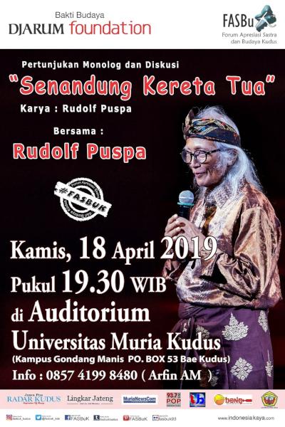 Forum Apresiasi Sastra Dan Budaya Kudus (FASBuK) Edisi April 2019
