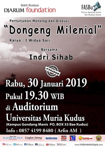 Forum Apresiasi Sastra Dan Budaya Kudus (FASBuK) Edisi Januari 2019