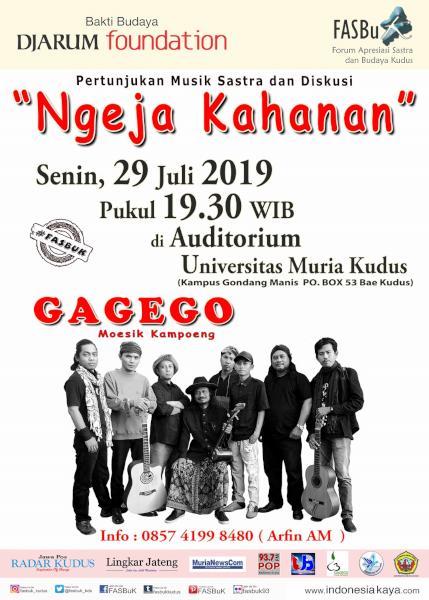 Forum Apresiasi Sastra Dan Budaya Kudus (FASBuK) Edisi Juli 2019