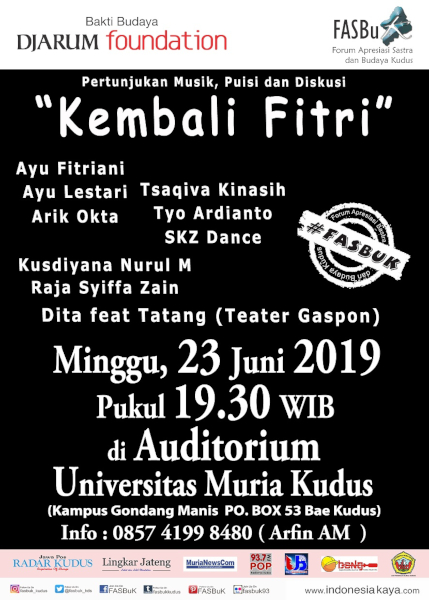 Forum Apresiasi Sastra Dan Budaya Kudus (FASBuK) Edisi Juni 2019