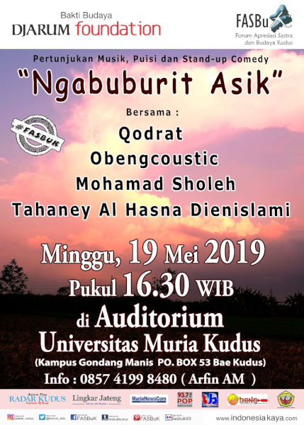 Forum Apresiasi Sastra Dan Budaya Kudus (FASBuK) Edisi Mei 2019