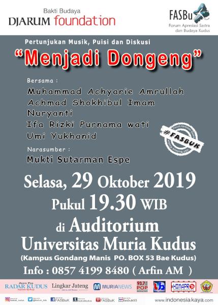 Forum Apresiasi Sastra Dan Budaya Kudus (FASBuK) Edisi Oktober 2019