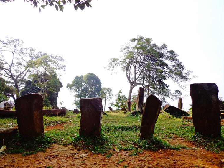 Batu-batu andesit Situs Gunung Padang