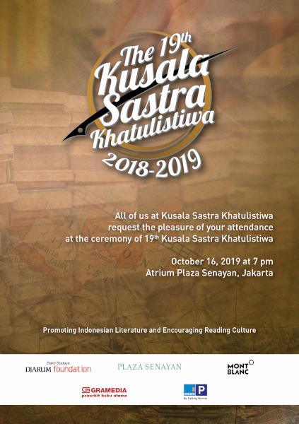 Kusala Sastra Khatulistiwa Tahun 2019