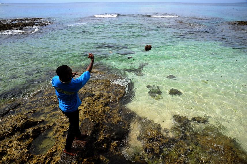 Pemanggilan Ikan merupakan keahlian salah satu warga Manokwari untuk mendatangkan ikan di pantai Bakaro - Manokwari