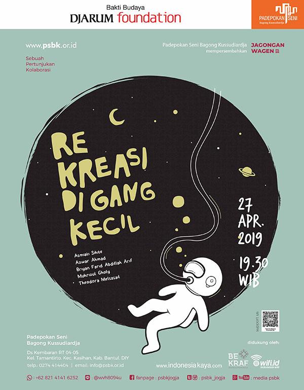 "Pertunjukan berjudul ""Rekreasi di Gang Kecil"", Jagongan Wagen Edisi April 2019"