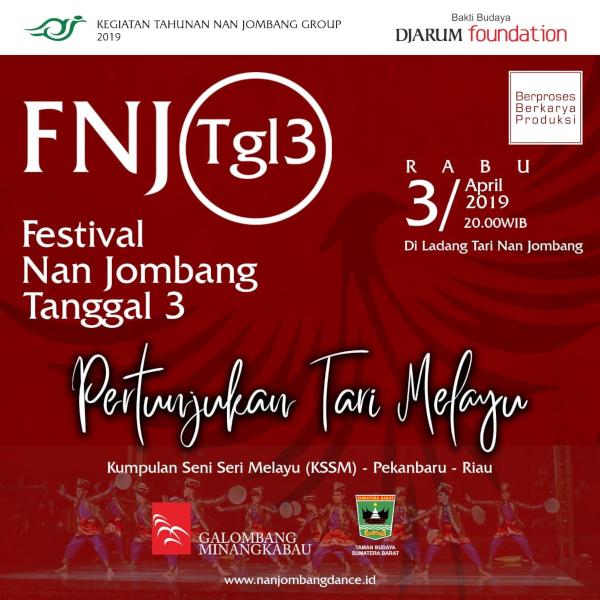 Pertunjukan Tari Melayu di Festival Nan Jombang