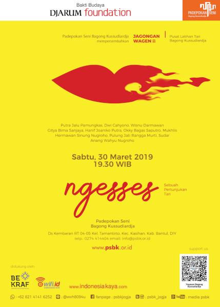 """Pertunjukan Tari """"Ngesses"""", Jagongan Wagen Edisi Maret 2019"""