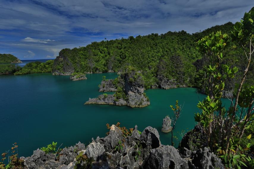 Pulau-pulau karang di Piaynemo