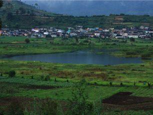 Tanah-tanah Mengambang di Telaga Balaikambang