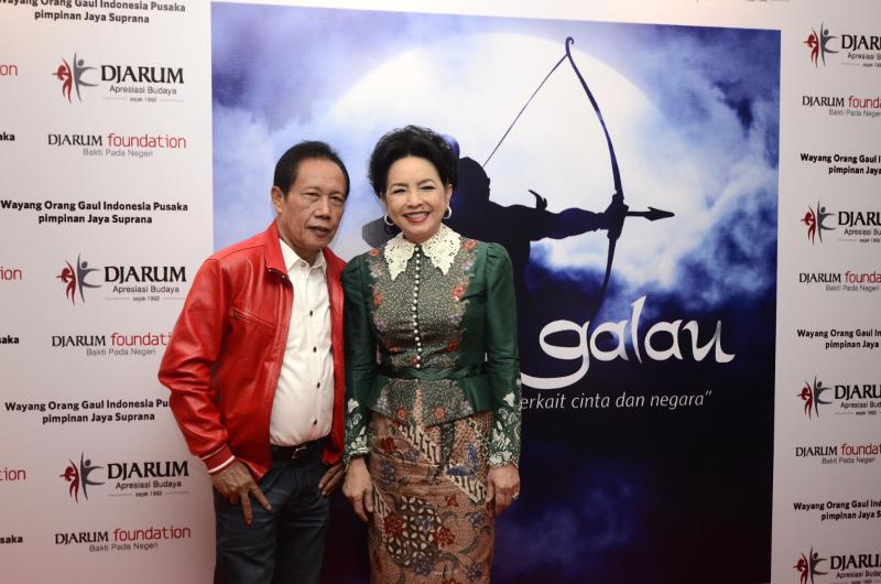 Bapak Sutiyoso hadir menyaksikan pertunjukan Arjuna Galau