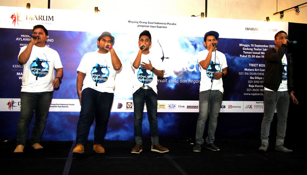 Grup Acapela Pentaboys turut mendukung Arjuna Galau