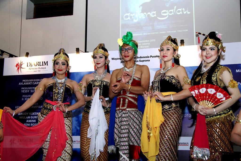 Pemeran Arjuna Galau hadir dalam konferensi pers