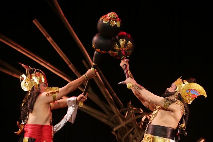 Pertempuran sengit antara Bima dan Duryudana