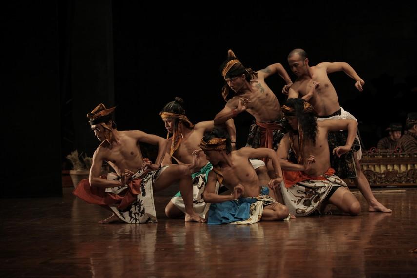 Proses latihan para penari