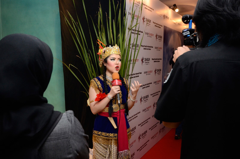 Wawancara Tina Toon setelah pertunjukan